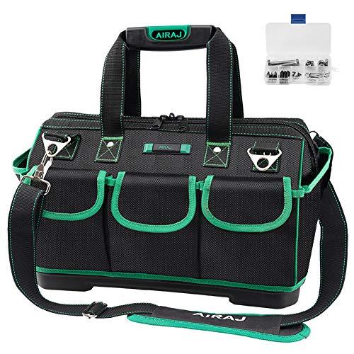 AIRAJ Wasserdichte Werkzeugtasche,47×27×31cm,Weithals Werkzeugtasche mit großer...