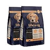 Marca Amazon - Lifelong Alimento seco completo con pollo fresco para cachorros de razas pequeñas, receta sin cereales - 5kg*2