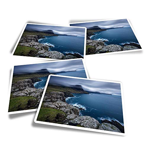Vinyl Rectangle Stickers (Set of 4) - Glendale Isle of Skye Scotland Fun Decals for Laptops,Tablets,Luggage,Scrap Booking,Fridges #45164