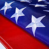 Hauffmann Flags American USA US Flag 4x6 ft - Deluxe Embroidered Stars, Heavy Duty Durable Flags Built for Outdoors, Vivid Color, Sewn Stripes Brass Grommets, Double Stitched UV Protection for Outside