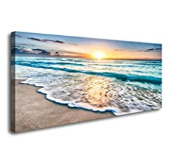 Size:20x40inchx1pcs(50x100cmx1pcs). High definition giclee modern canvas printing artwork, picture photo printed on high quality canvas. Stretched and framed,ready to hang. A strong hook is already fixed on each wooden inner frame for easy hanging ou...