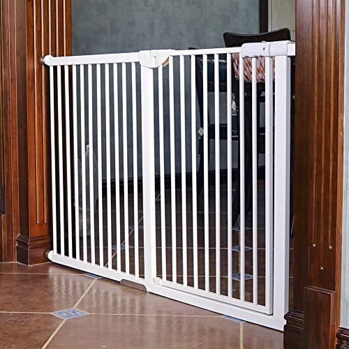 PNFP Extra hoge en brede huisdierdeuren - drukgemonteerd babytor, veiligheidsdeur van wit metaal, breedte 71-173 cm, hoogte 100 cm