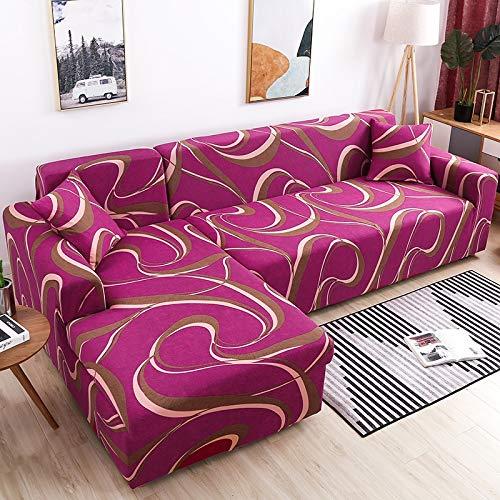 WXQY Funda de sofá en Forma de L Funda de sofá elástica Funda de sofá elástica Esquina de Toalla de sofá con Todo Incluido Funda de sofá Funda de Chaise Longue A15 1 Plaza