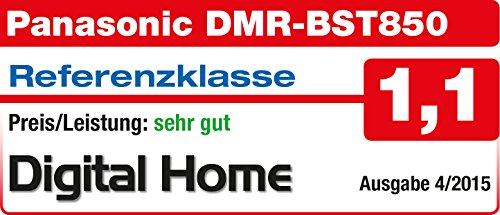 Panasonic DMR-BST850EG Blu-ray Recorder (mit 1 TB Festplatte, für DVB-S, Twin HD Tuner, 4K Upscaling, WLAN, VoD, TV Anywhere, 2x CI+, HbbTV) schwarz