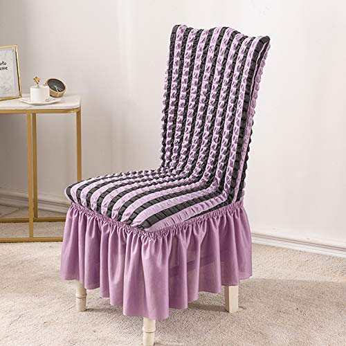 HELEN CURTAIN Housse De Chair From Dining Room Extensible Super Soft, Waterproof Fabric Cover Spandex Chair From Removable And Washable Cover Chair,N