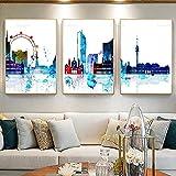 XuFan Wandkunst Triptychon von Wien Österreich Skyline