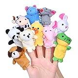Siumir 10 pcs Marionetas de Dedos Animales Adecuado para Niños Hora de Cuentos, Rellenos Bolsas...