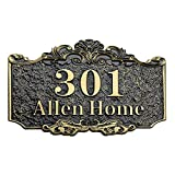 Personalized Address House Plaque Sign, Custom Cast Street Name Letter Sign Door Room Wall Mounted Acrylic Plate for Home Office Hotel Apartment Yard Or Mailbox (3-15 Characters)