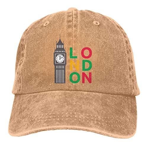 N/A Sombrero De Deporte,Sombrero De Sol,Dad Hat,Ocio Sombrero,Sombreros Sombrilla Al,Big Ben London Denim Jeanet Gorra De Béisbol Ajustable para Papá