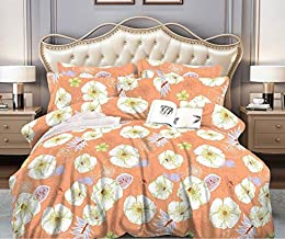 Sponsored Ad – Comforter Set, Peach Colour Breathtaking Design, CAN, Bed In A Bag, Elegant Comfort Luxury Bed sheet, Pillo...