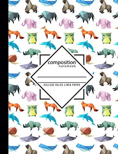 Composition Notebook College Ruled Lined Paper: Origami School Teacher, Students and Office Administrators Writing Book Journaling or Diary