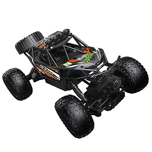 ZDYHBFE Vehículo todoterreno de alta velocidad RC Coche de escalada al aire libre Coche de juguete para niños 1:14 4WD Drift Car Bigfoot Racing 2.4G Coche mecánico Potentes motores duales Caminata mul