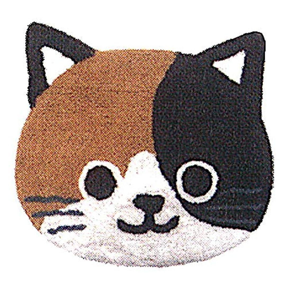 故障中誰かファセットフレンズヒル ミニマット ちびっこみやけ ブラウン 42.5x47 wasabi 三毛猫 子猫 HW-326-85