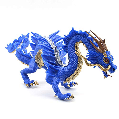Kolobok – Chinese Dragon Figure – Fantasy World– Blue