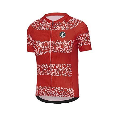 Uglyfrog Herren Kurzarm Radtrikot Fahrradtrikot Fahrradbekleidung für Männer mit Elastische Atmungsaktive Schnell Trocknen Stoff