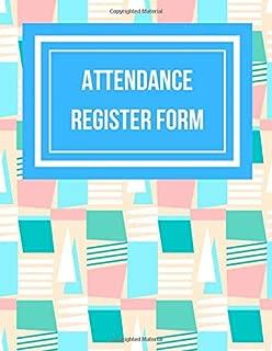 Attendance Register Form: Seamless Geometric Pattern Design