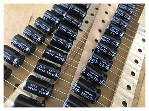 JSJJAWD Condensador 10pcs 25V220UF VP-BP Series 220UF / 25V Condensador electrolítico no Polar para Audio