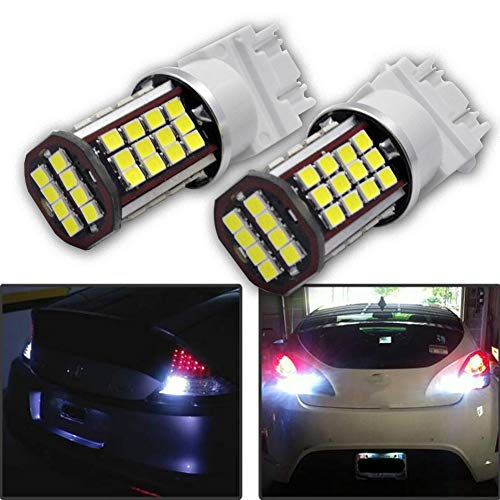 Ruiandsion 3157 Lot de 2 ampoules LED ultra lumineuses Blanc 24 V 3030 56 SMD