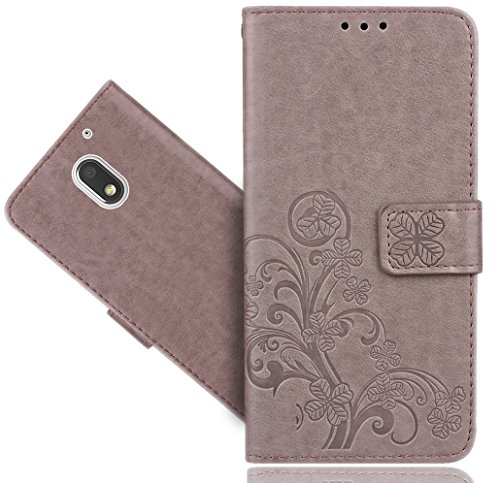 Moto E3 (3rd Gen 2016) Handy Tasche, FoneExpert® Blume Wallet Case Flip Cover Hüllen Etui Hülle Ledertasche Lederhülle Schutzhülle Für Motorola Moto E3 (3rd Gen 2016)