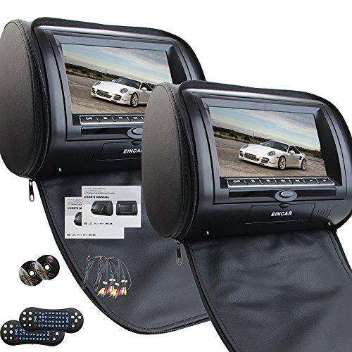 Universale Coppia di poggiatesta auto con 7 pollici Dual DVD Player per il supporto auto USB di deviazione standard IR Trasmettitore FM