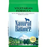 Natural Balance Vegetarian Formula Dry Dog Food, with Brown Rice, Oat Groats, Barley & Peas, 4.5 Pounds, Vegan