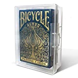 10 Pack Playing Card Deck Boxes, Empty Storage Box, Snaps Closed, Plastic Case, Fits Pokemon, MTG, Yugioh and Baseball Trading Cards, by BitsBins (10 Pack)
