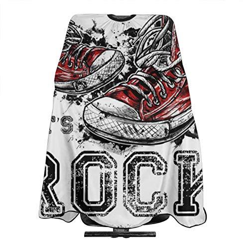 Oude Sneakers Rock Grafische Professionele Haar Snijden Salon Nylon Cape Barber Cape Waterdicht Met Snap Sluiting 55