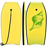 [page_title]-COSTWAY Bodyboard, Schwimmbrett Schwimmboard, Surfbrett Kinder und Erwachsene, Surfboard, Sup-Board 104x51x6cm (Gelb und grün)