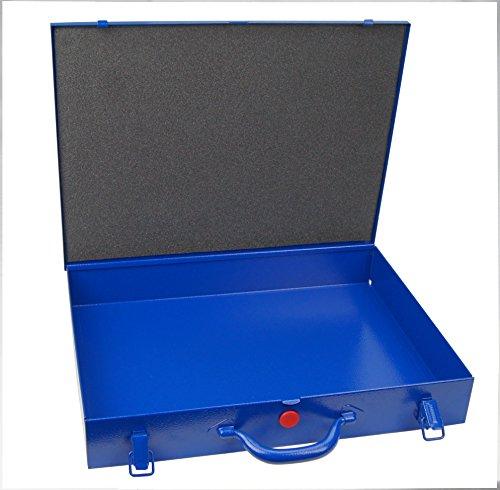 Profi-Stahlbech-Sortimentskoffer Werkzeugkoffer, leer, Innenabm. 432 x 324 x 63 mm (BxTxH)