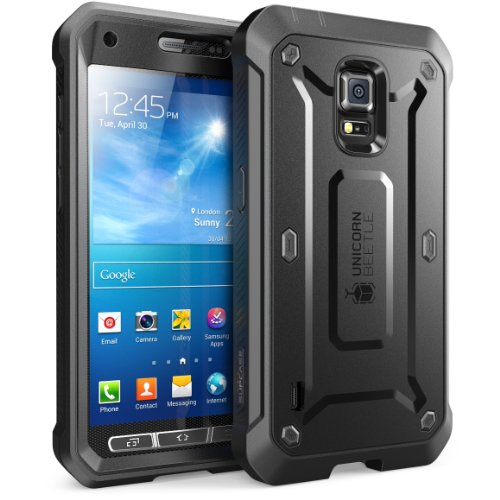 SUPCASE Unicorn Beetle PRO Series Case for Galaxy S5 Active, Full-Body Hybrid Case with Screen Protector(SM-G870A) (Black)