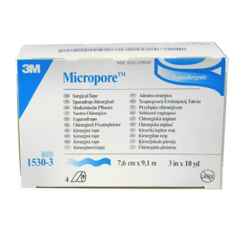 Micropore Surgical Tape White 2 Inches X 10 Yards - 6 Pieces