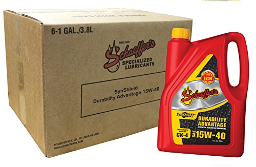Schaeffer Manufacturing Co. 0700CK4-006 SynShield Durability Advantage Diesel Engine Oil 15W-40, 1-Gallon Bottle (Pack of 6)