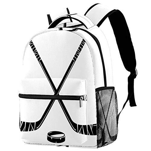 LAZEN für Mädchen Junge College Schule Reisen Camping Daypack Bookbag Hockey Puck Sticks Leichter Druckrucksack