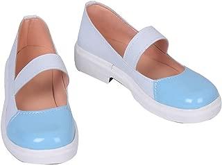 Sayori Natsuki Yuri Girls White Blue Cosplay School Shoes S008