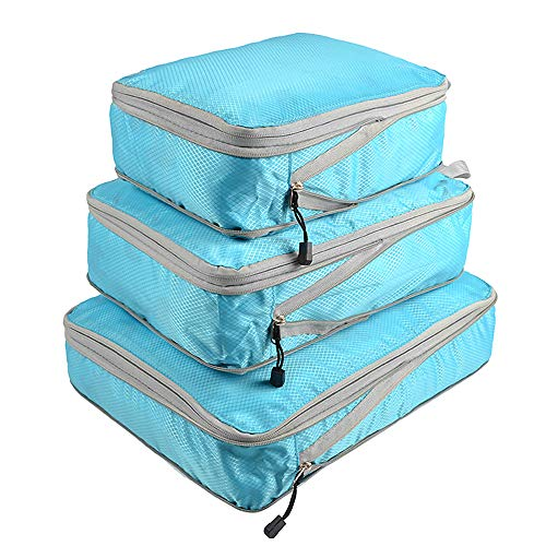 Festnight Packing Cubes 3 Bag Luggage Organizer Set for Travel, Home, School - Storage Bags Shoes Backpack