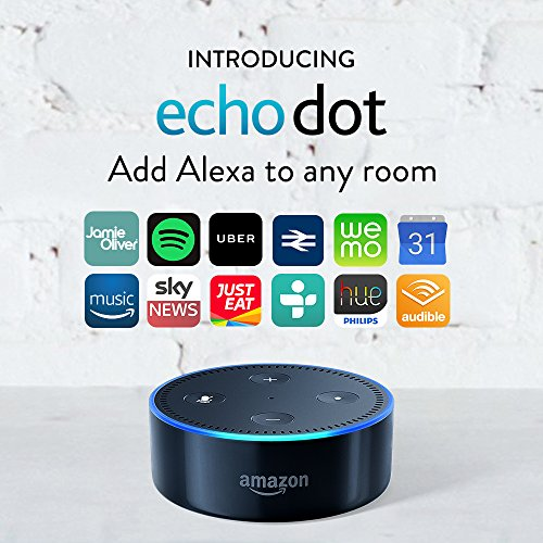 Certified Refurbished Amazon Echo Dot (Previous Generation - 2nd Gen), Black