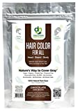 Manly Guy DARK BROWN Hair, Beard, & Mustache Color: 100% Natural & Chemical Free...