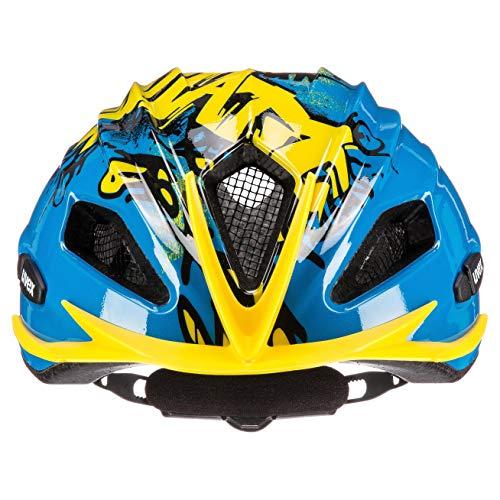 uvex Unisex Jugend Quatro junior Fahrradhelm, Blue Yellow, 50-55 cm - 2
