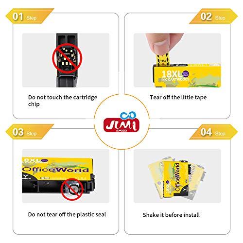 JIMIGO 16 XL 16XL Cartuchos de Tinta Reemplazo Para Epson 16 Tinta Compatible con WF 2750 WF 2630 WF 2650 WF 2530 WF 2660 WF 2510 WF 2760 WF 2010 WF 2540 WF 2520 WF2750 WF2630 WF2650 WF2530 WF2660