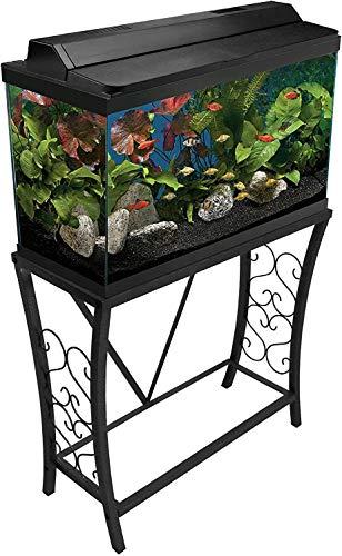 Aquatic Fundamentals Metal Aquarium Stand (55 Gallon- Gray) 102552-AMA