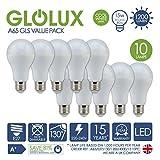 *, 10 unidades* LED A65 bombilla E27 luz blanca fría 1200 lumens 15 W