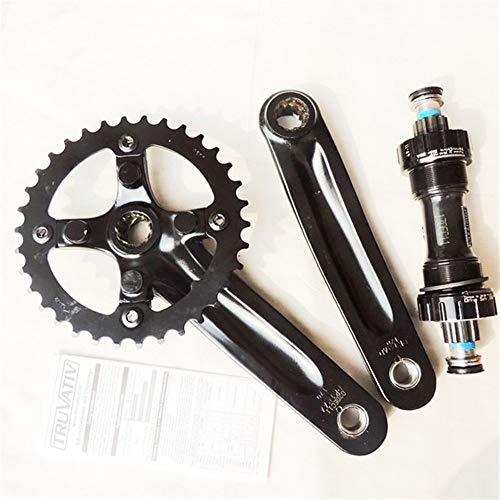 HXYIYG Brazo De Manivela,Manivela Bicicleta MTB Platos y bielas de aleación de Aluminio de Bicicletas Bicicletas Crank Crank piñones Chainwheel (Color : 1 Suit with BB, Crank Length : 170mm)