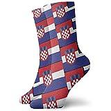 Be-ryl Kroatien-Flagge oder Fahnen-Bunte verrückte Socken-weiche Neuheits-Socken