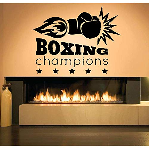 JXWH Boxen citaat Muurtattoo Boxen Champion Boxen Sport wedstrijd muursticker vinyl woonkamer binnendecoratie