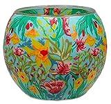 Himmlische Düfte Geschenkartikel GmbH Tropical Flowers Windlicht, Glas, bunt, 11x11x9 cm