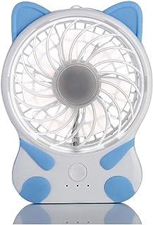 CJW Creative Cat Fan Mini Animal Lindo USB Ultra silencioso Dormitorio Dormitorio Ventilador de Oficina (Color : Blue)