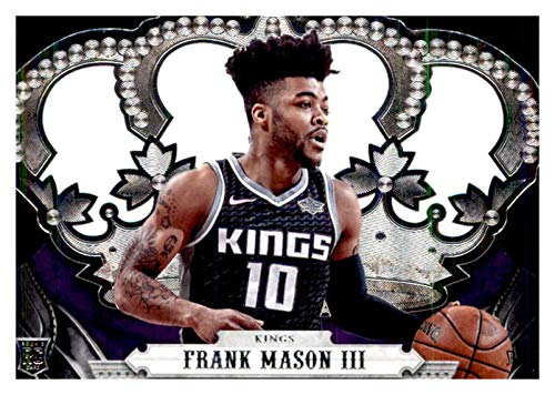 2017-18 Panini Crown Royale Basketball #176 Frank Mason III Sacramento Kings RC Rookie Card Official NBA Trading Card ma