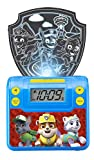 Paw Patrol Digital Alarm Clock with Night Light, Alarm Clocks for Kids Bedrooms, USB Charger, LED Light Show Animations, Battery Backup Nightlight, Snooze Wake to Buzzer