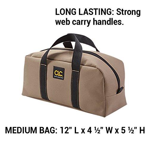 CLC Custom Leathercraft 1107 2 Pack Medium and Large Utility Tote Bag Combo,Black/Beige