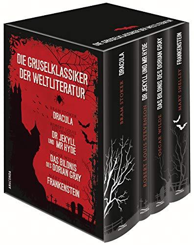 Die Gruselklassiker der Weltliteratur: Frankenstein / Dr. Jekyll und Mr. Hyde / Dracula / Das Bildnis des Dorian Gray: (Vier Bände in Kassette)